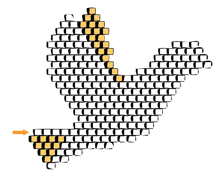 DIY tejer brickstitch Miyuki rebordea patrón de la paloma por Love ...