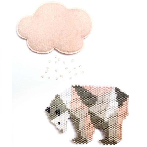 patrón de DIY bolas Weaving Miyuki oso polar - Perles & Co
