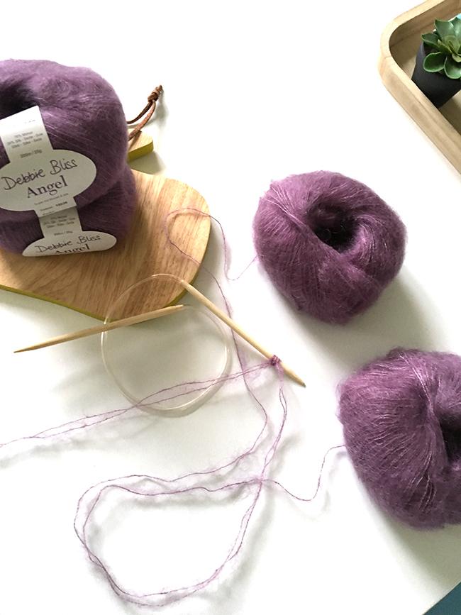 DIY de tejer - chal de moda con lana borlas mohair y seda - Perles & Co