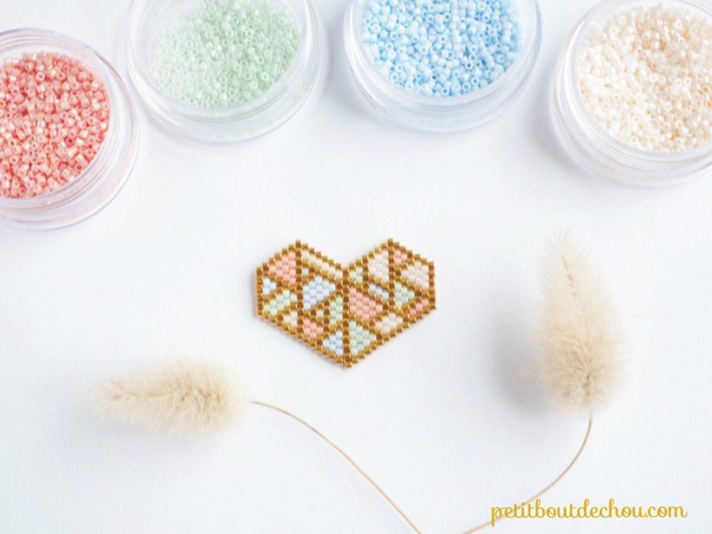 DIY Tejer la puntada de ladrillo fácil en colores pastel del corazón ...