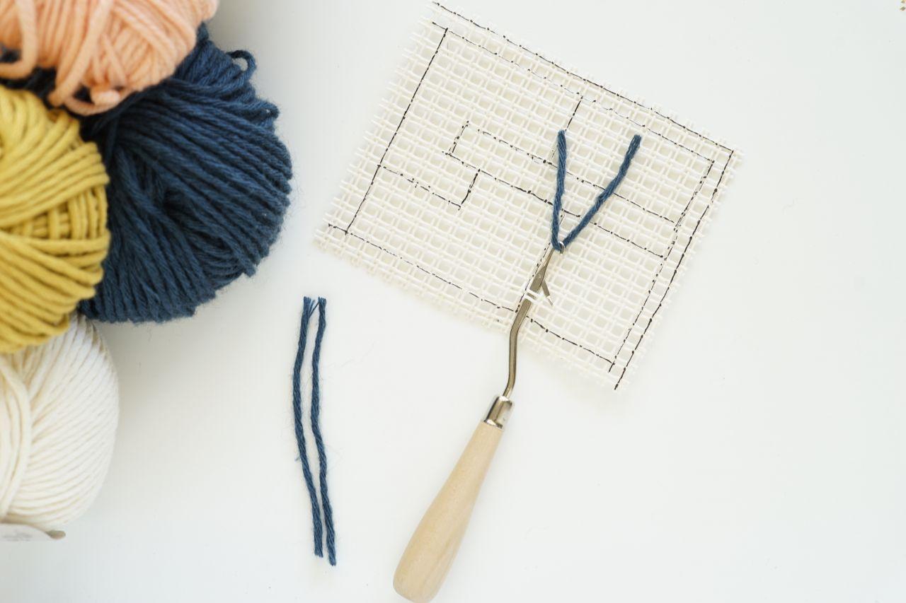 DIY fácil del punto de cadeneta de bolsillo custo con una lona y la ...