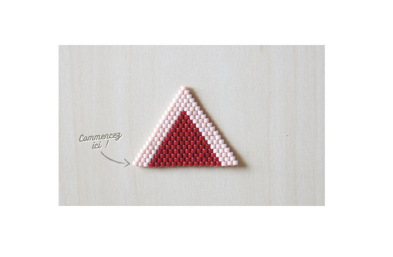 Collar tejer patrón de triángulo de ladrillo de la puntada con ...
