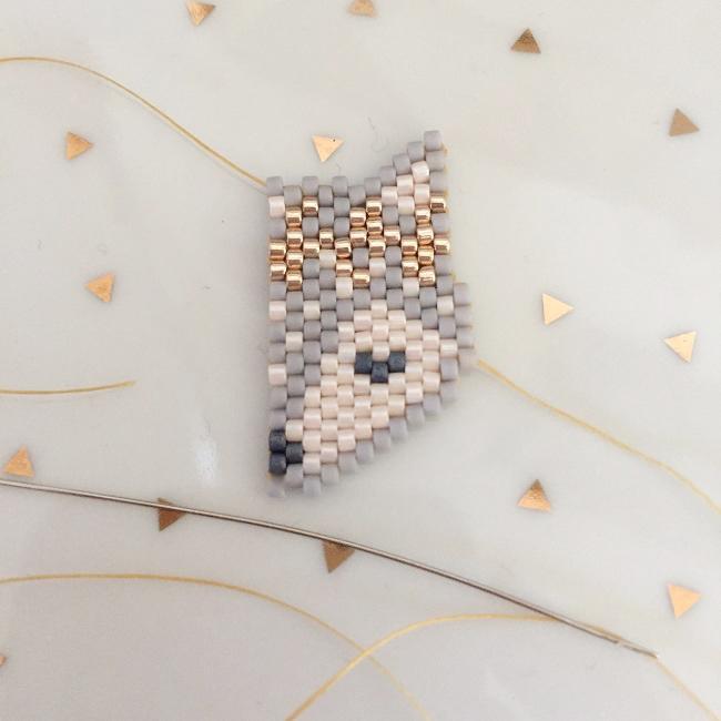 tejer patrón de la cabeza del zorro con la puntada corona de ...