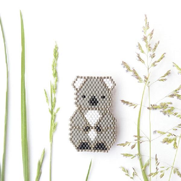 tejer patrón de bricolaje perlas koala Miyuki - Perles & Co
