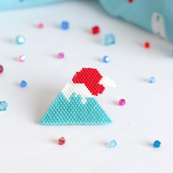 Miyuki rebordea patrón de tejido Monte Fuji - Perles & Co