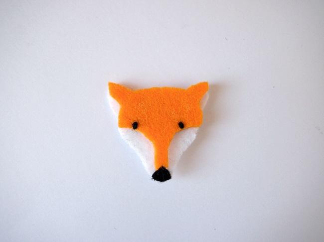 clip de pelo de la cabeza patrón de zorro, perro, gato - Perles & Co