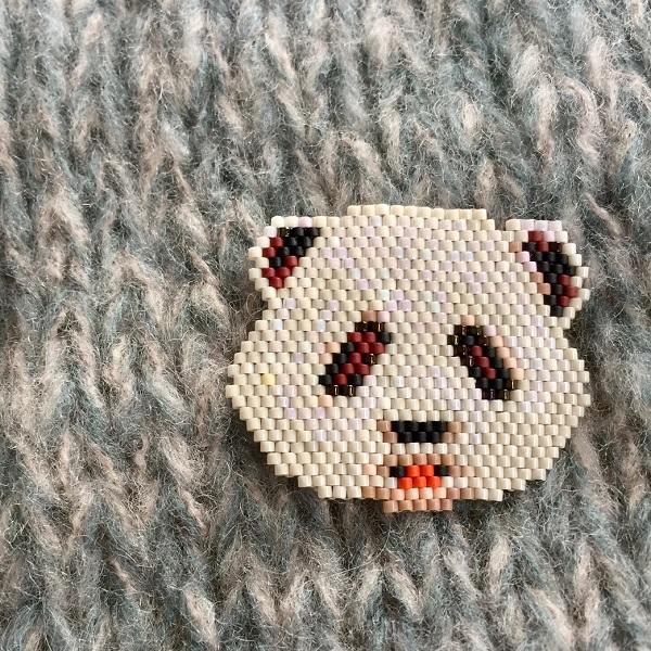 Husillo patrón de tejido de la panda de ladrillo de la puntada ...