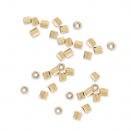 Tubos Chafas 1x1.1 mm de Gold filled 14K x50