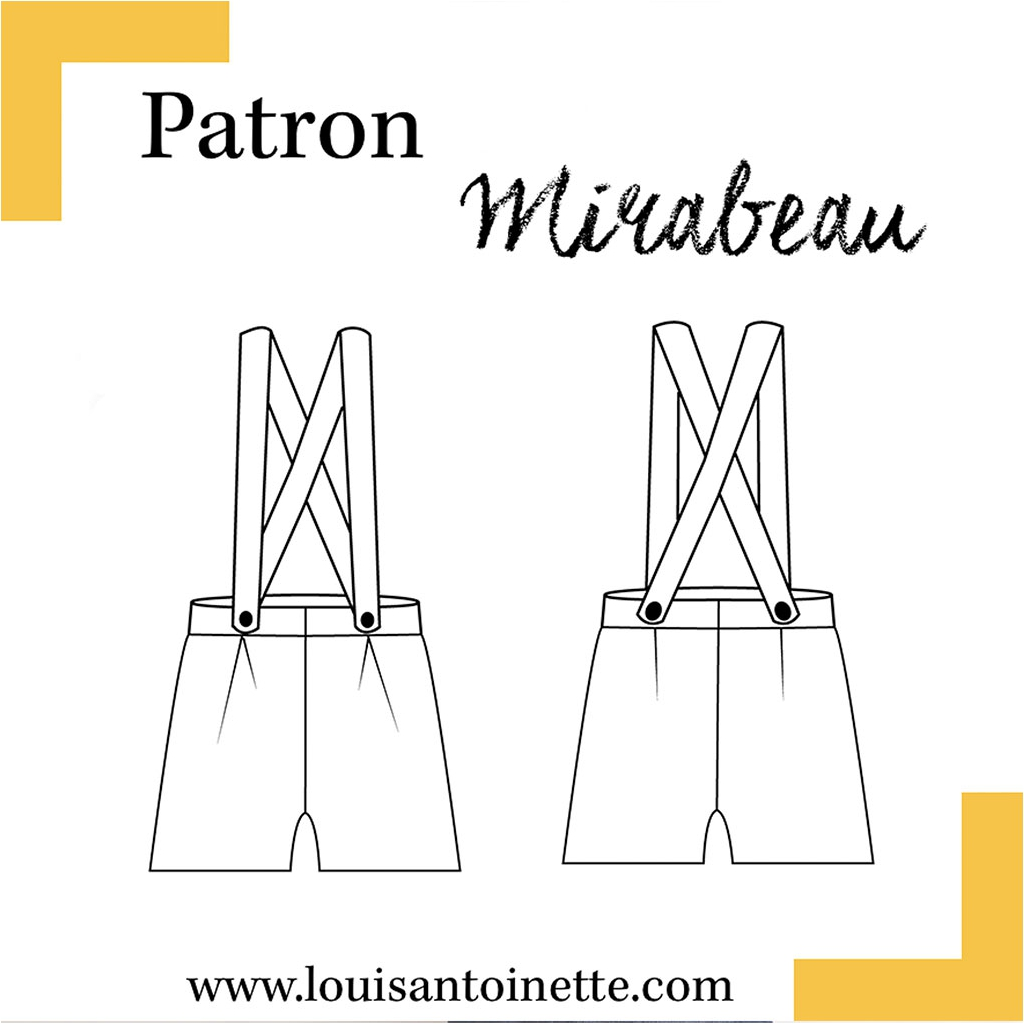 Patrón de costura Louis Antoinette le short Mirabeau - Louis Antoi ...