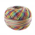 Hilo de algodón Lizbeth talla 80 Rainbow Splash n°184 x168m