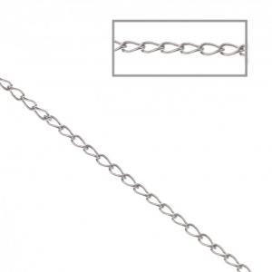 8b3fb532b Cadena con eslabón ovalado plano 1.6x2.9 mm de Acero inox x1 m ...