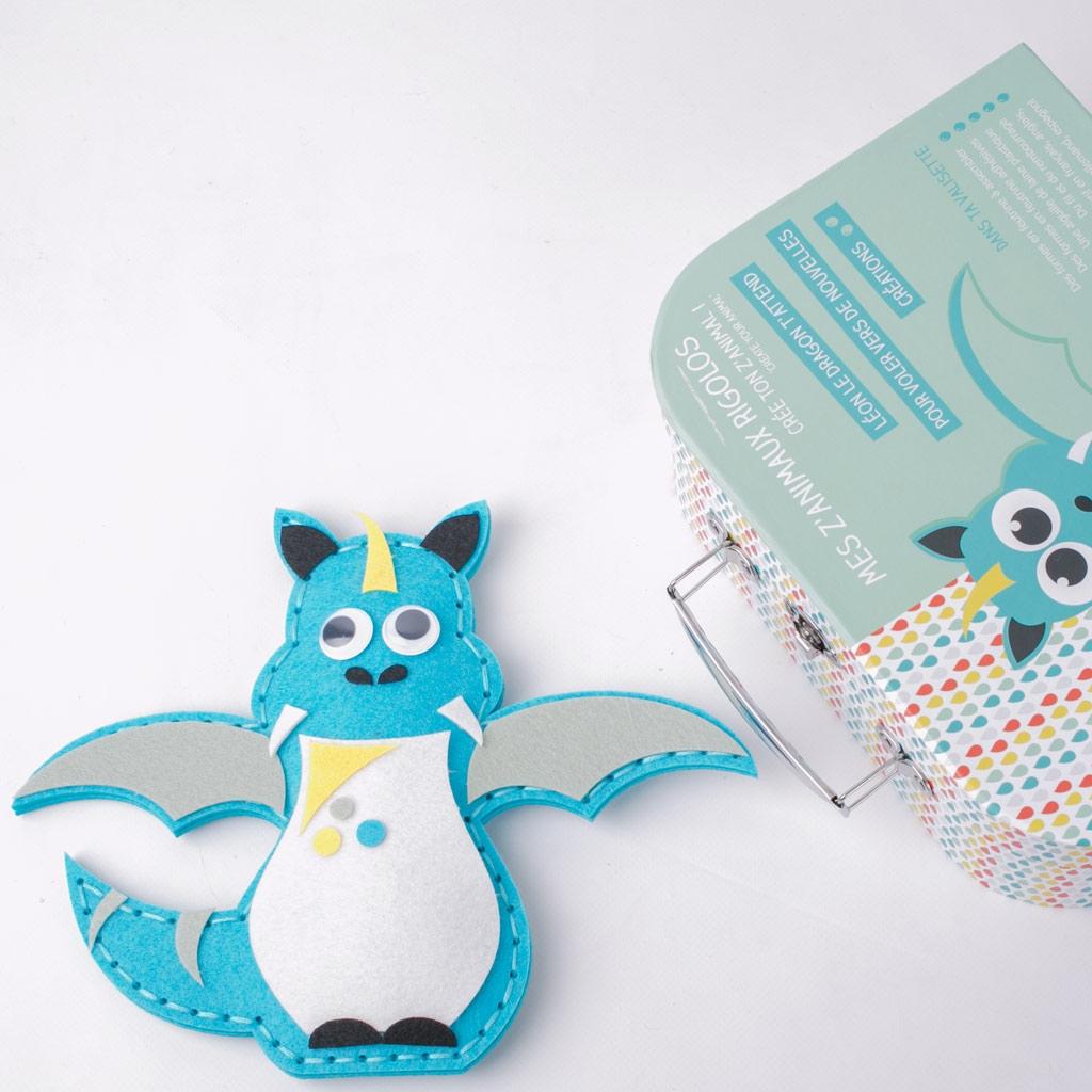 Kit DIY Filou el búho - animales divertidos fieltro x1 - Perles & Co