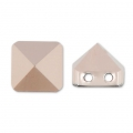 Square Spike Bead Swarovski 5061 dos agujeros 7.5 mm Crystal Rose Gold x1