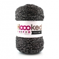 Hoooked Ribbon XL DMC - Ovillo Jersey Black Sparkle x 120m