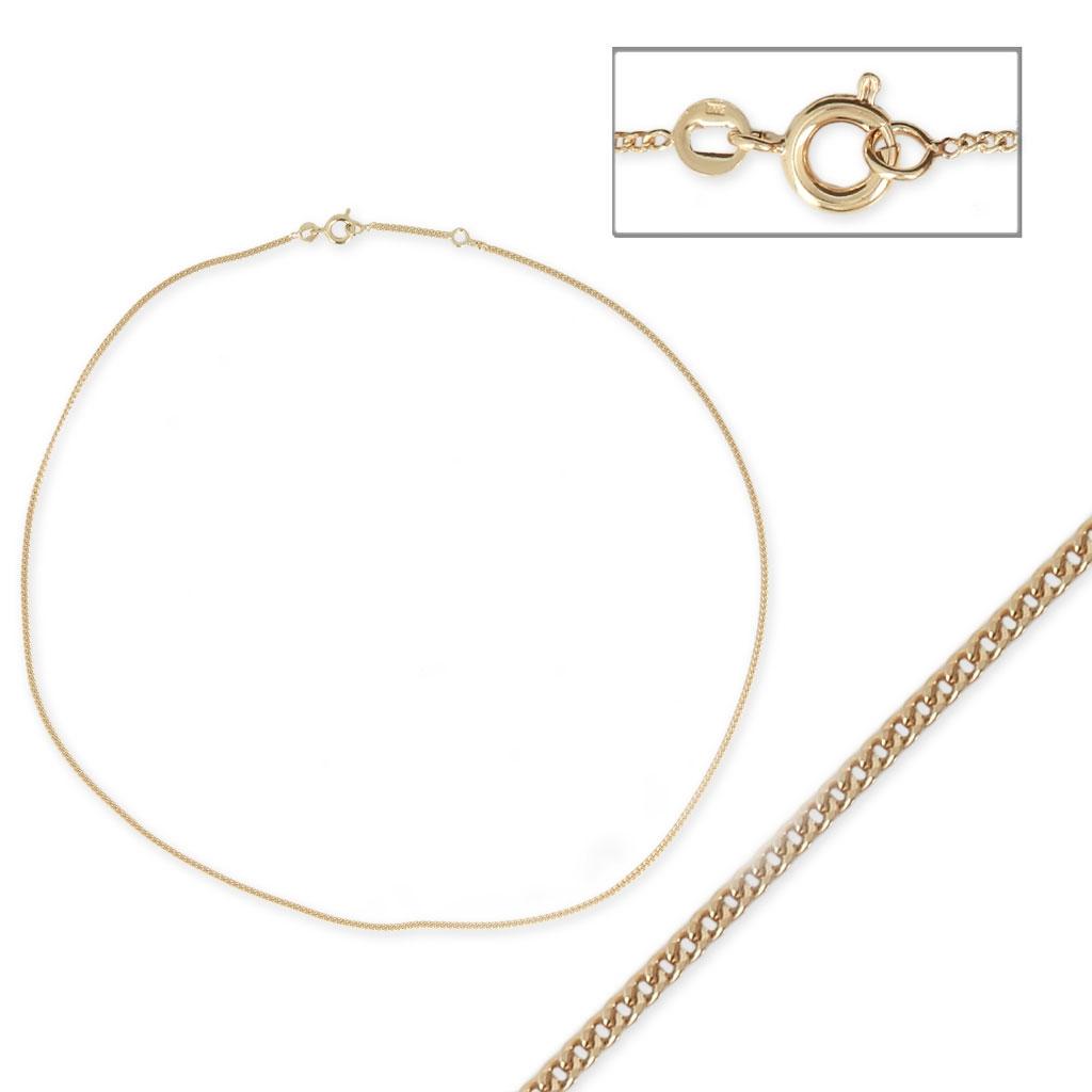 Collar gargantilla cadena eslabón esclava 1.3 mm Chapado de Oro 3 ...