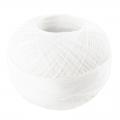 Hilo de algodón Lizbeth talla 80 Snow White n°601 x168m