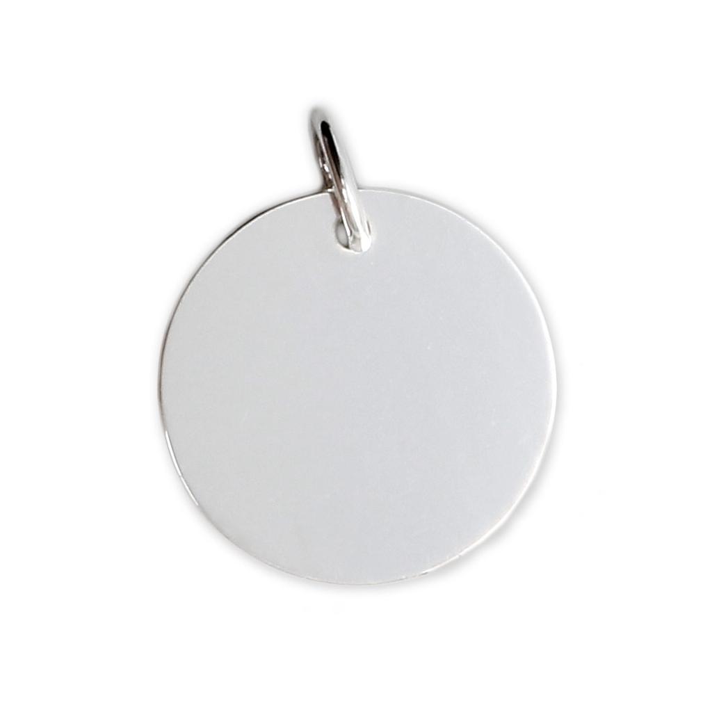 9bf24d4d6ab7 Dije medalla para grabar - De Fabricación Europea - 18 mm para grabar de  Plata 925 x1