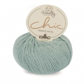DMC Lana Woolly Chic - Mint/plateado  (n°073) x 125m