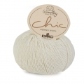 DMC Lana Woolly Chic - Color Crema/dorado (n°001) x 125m