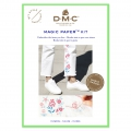 Kit DMC - Bordado punto de cruz - Magic Paper - Flores