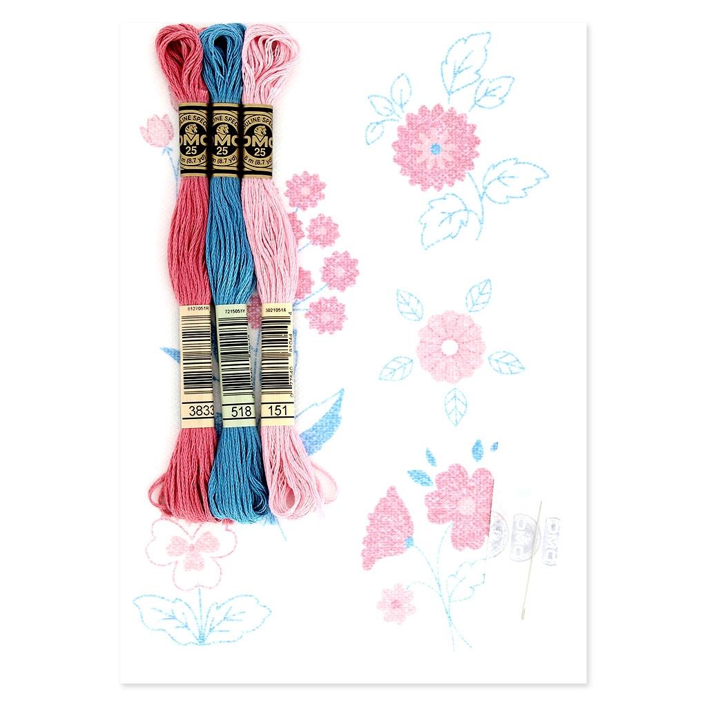 Kit DMC - Bordado punto de cruz - Magic Paper - Flores - Perles & Co