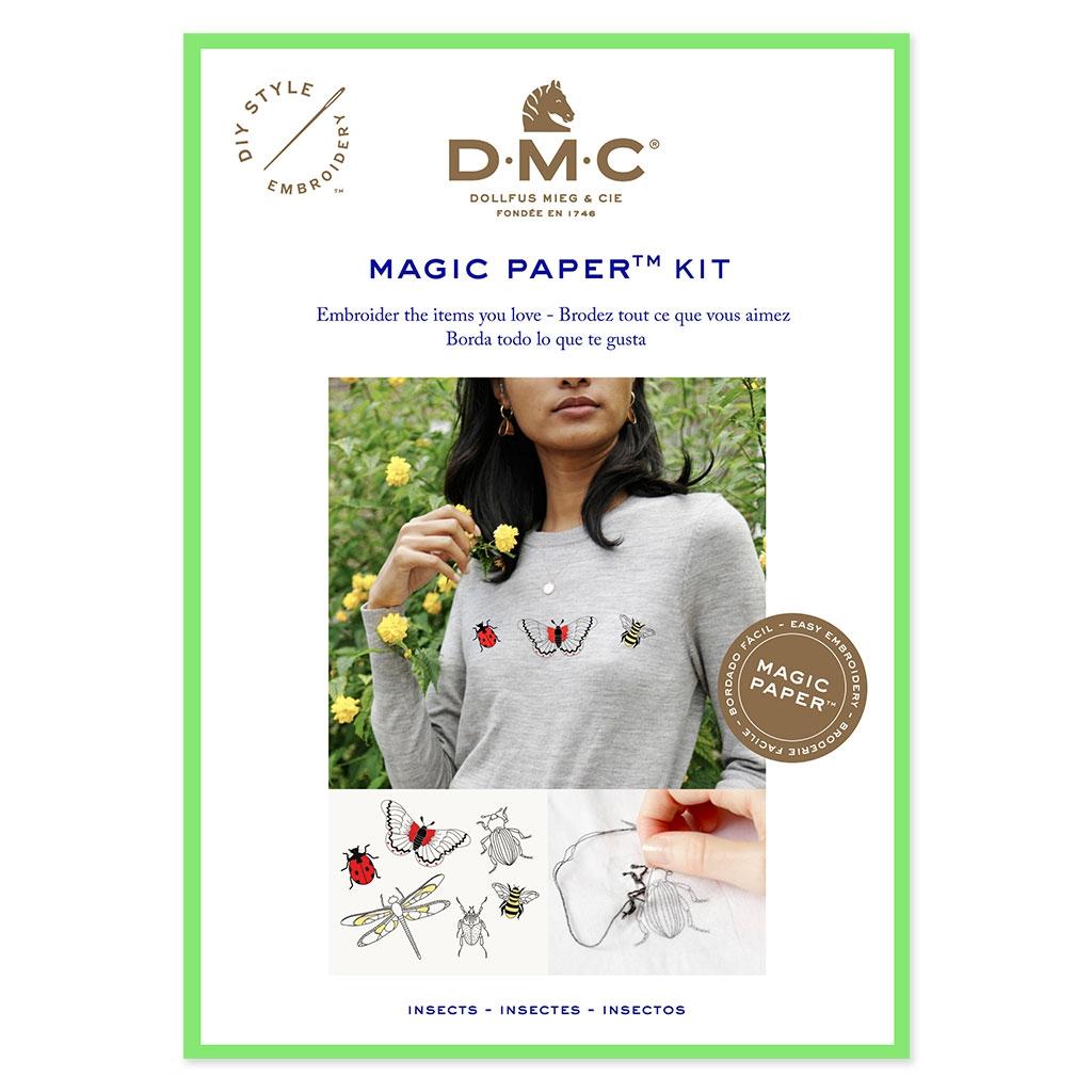 Kit DMC - Bordado punto de cruz - Magic Paper - Insectos - Perles & Co