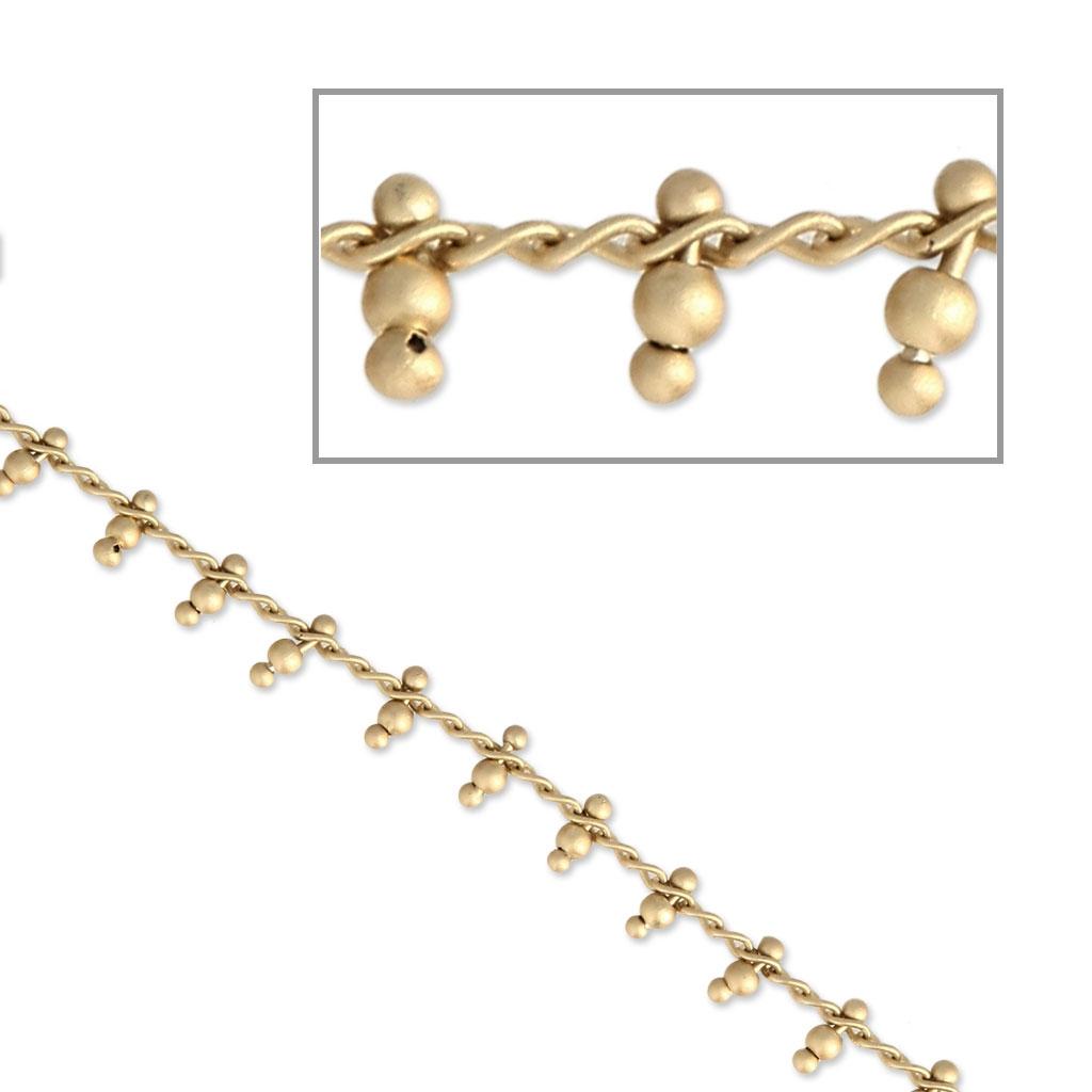 3f44f4943768 Cadena con eslabones para joyería de fantasía 1.60 mm dorado mate x50cm