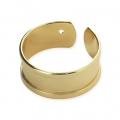 Anillo ajustable 8.5 mm dorado x1