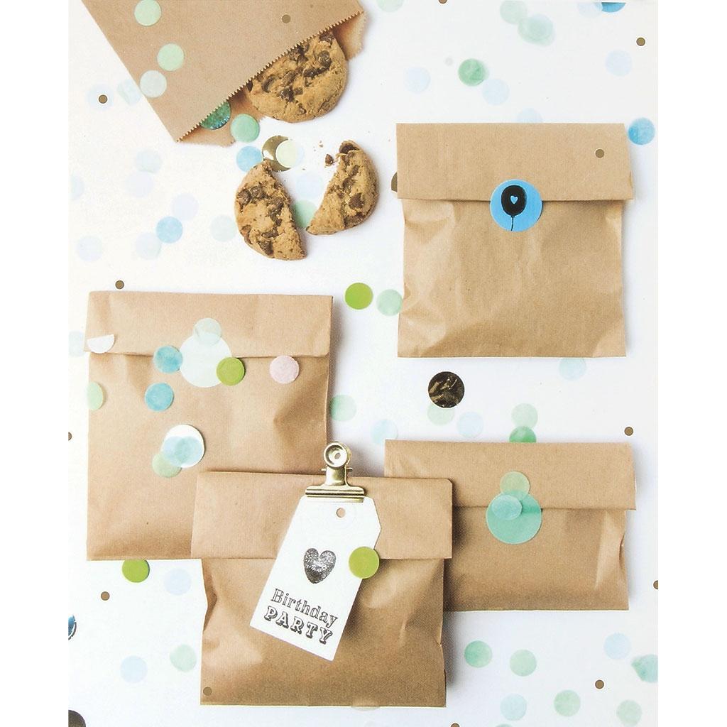 2c0913be5 ... DIY Bolsa de papel para regalo Yey - 120x185 mm - Let's party - Kraft  ...