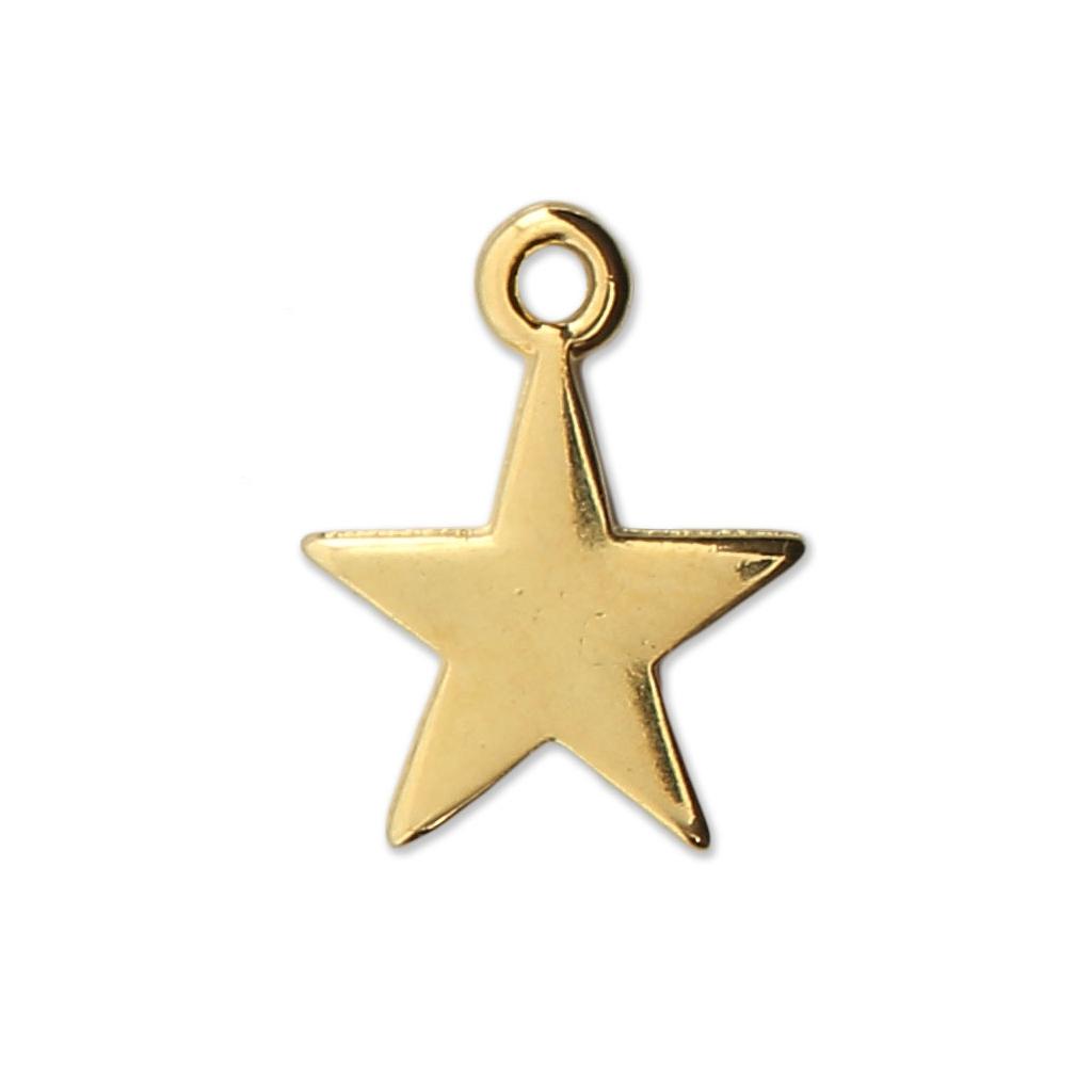 Dije estrella para piezas de Joyería y bisutería DIY 14 mm dorado x1 ...