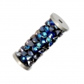 Crystal Fine Rocks Tubo Swarovski 5950 15 mm Crystal Bermuda Blue x1