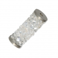 Crystal Fine Rocks Tubo Swarovski 5950 15 mm Crystal Moonlight l x1
