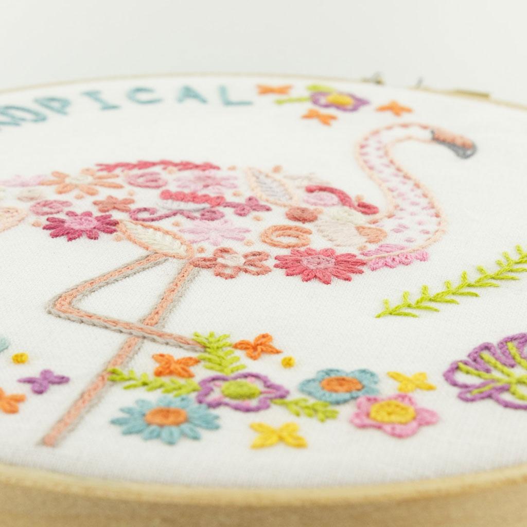 Kit bordado - Producto artesanale de Francia - Gontran el flamenco ...