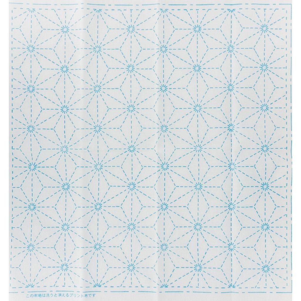 Retales de tela para bordado Sashiko - 31x31 cm - Blanc Feuille de ...