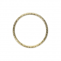 Anilla cerrada diamantada 16 mm de Gold filled 14 kilates x1