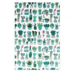 Papel Decopatch Hygge 42x30 Cm Cactus Blancofluo X 3 Hojas