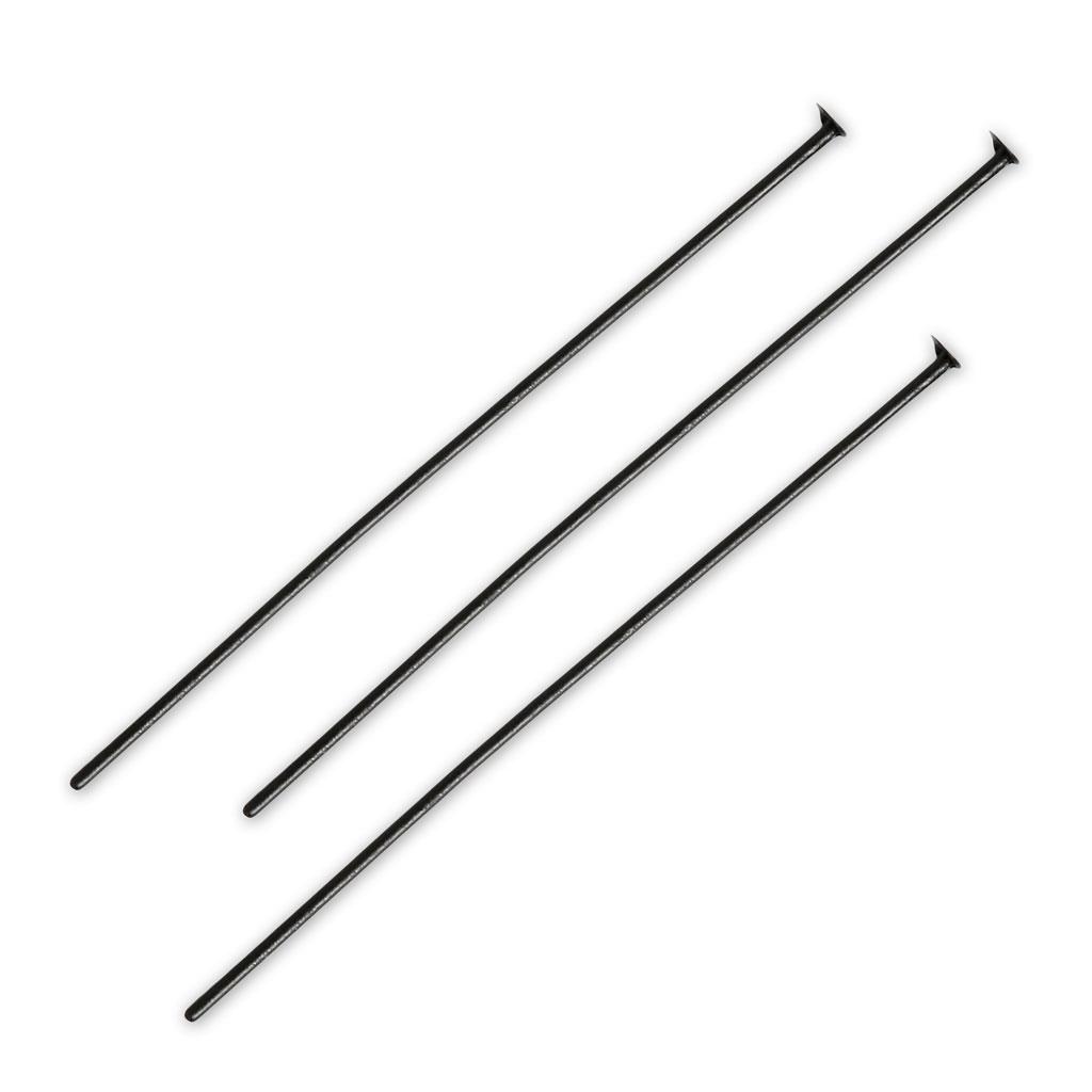 Bastones alfileres pins 45 x 0,7 mm X 45 UNIDADES ojo o anilla baño de plata