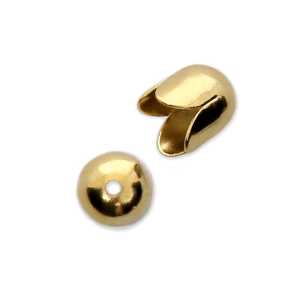 Casquillos para borlas 6 mm - dorado x4 - Perles   Co 81e14ad3ab28
