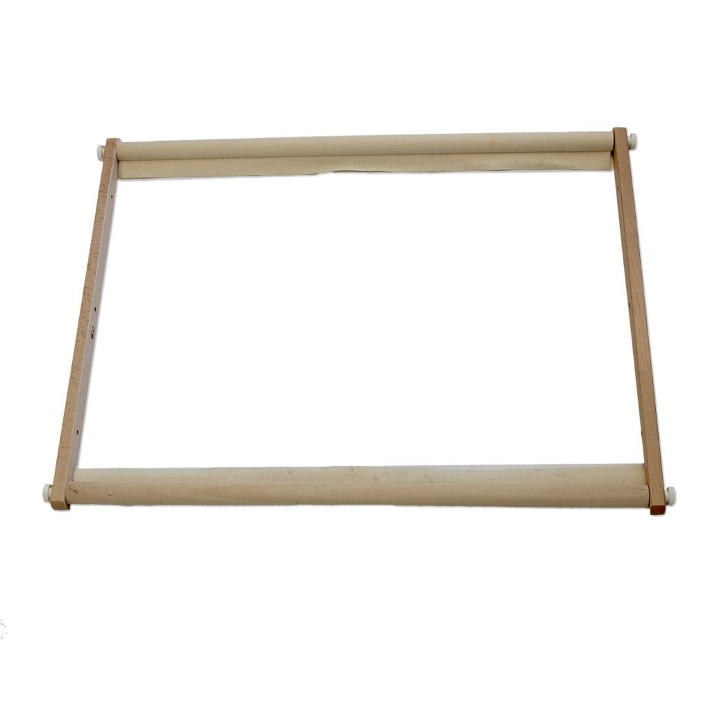 cadre rectangulaire de madera pour broderie tapisserie et punch ne perles co. Black Bedroom Furniture Sets. Home Design Ideas