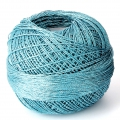Hilo de poliéster Liz Metallic talla 20 Turquesa Blue n°319 x146m