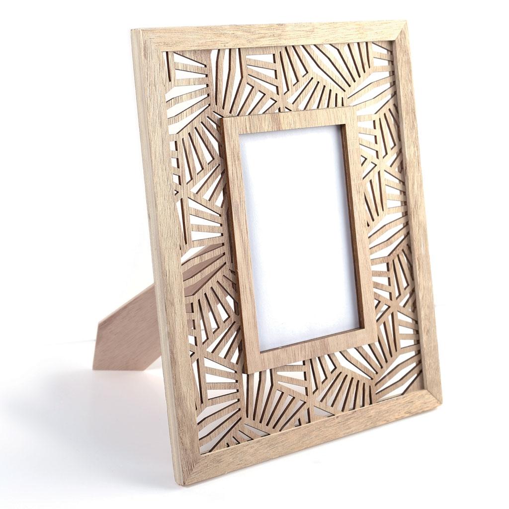 Marco de madera calado a personalizar 23.5 x 29 cm - Diseño Vegeta ...