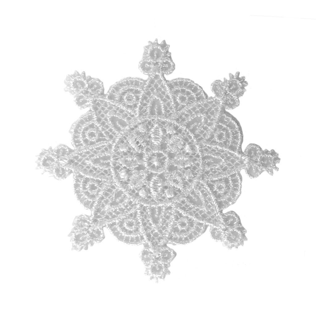 Escudo Termoadhesivo encaje - Arabesco 50 mm Blanco x1 - Perles & Co