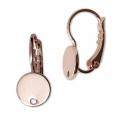 8aa1b59ec873 Pendiente gancho disco con agujero 8 mm dorado rosa HQ x2