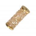 Crystal Fine Rocks Tubo Swarovski 5950 15 mm Crystal Golden Shadow/dorado x1