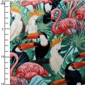 Tela Miami Tropic Timeless Treasures - Pajaros Tropicales x10cm