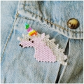 Kit tejido Brick Stitch made by me para hacer une broche Licorne