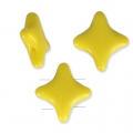 Abalorios Cuentas Star Beads by Perles and Co 11x11 mm Opaque Amarillo x30