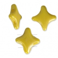 Cuentas abalorios Star Beads by Perles and Co 11x11mm Opaque Amarillo Ceramic Lookx30