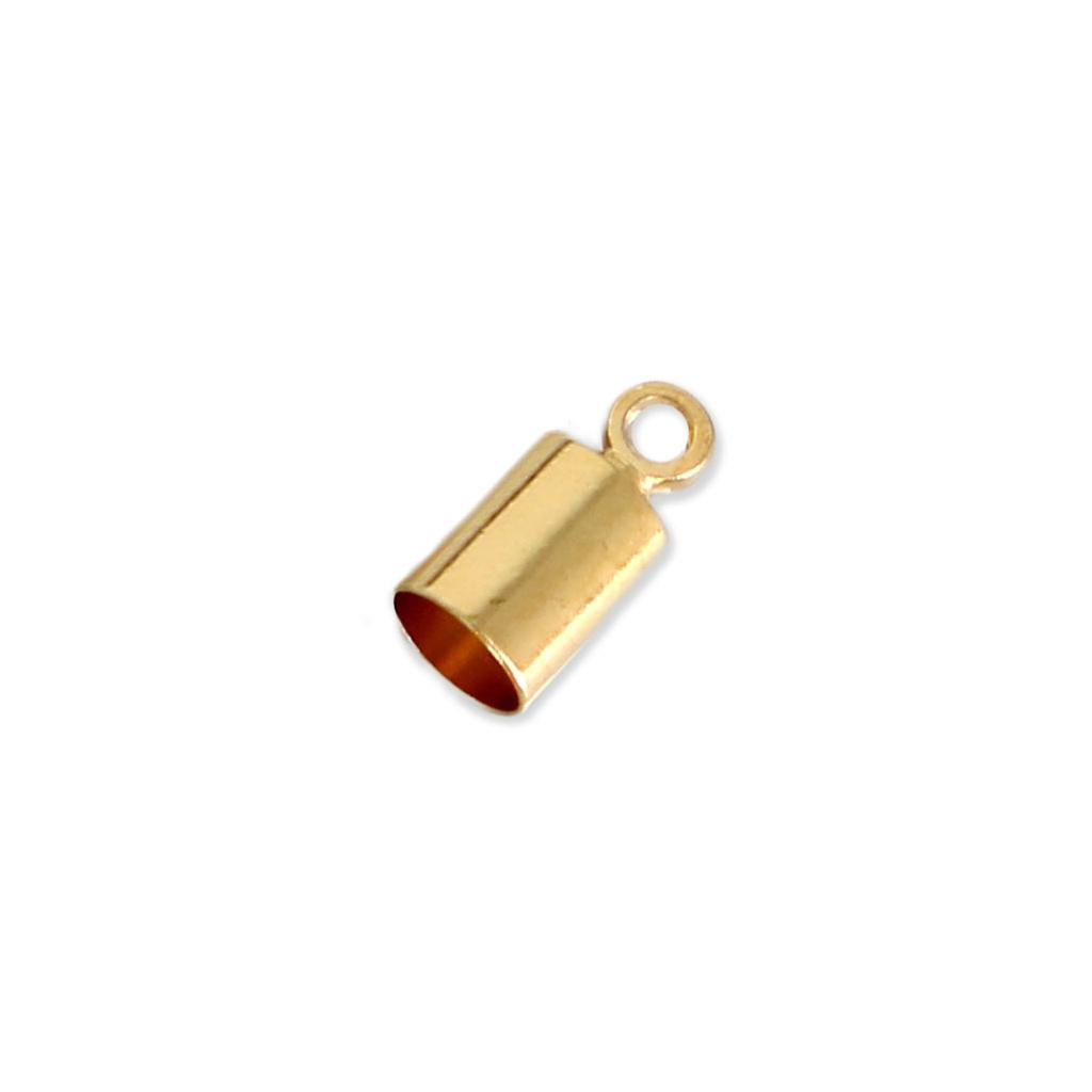 Terminales cilíndricos 8x4 mm para cordón 3.5 mm dorado x10 - Perles ... 389a005e64da