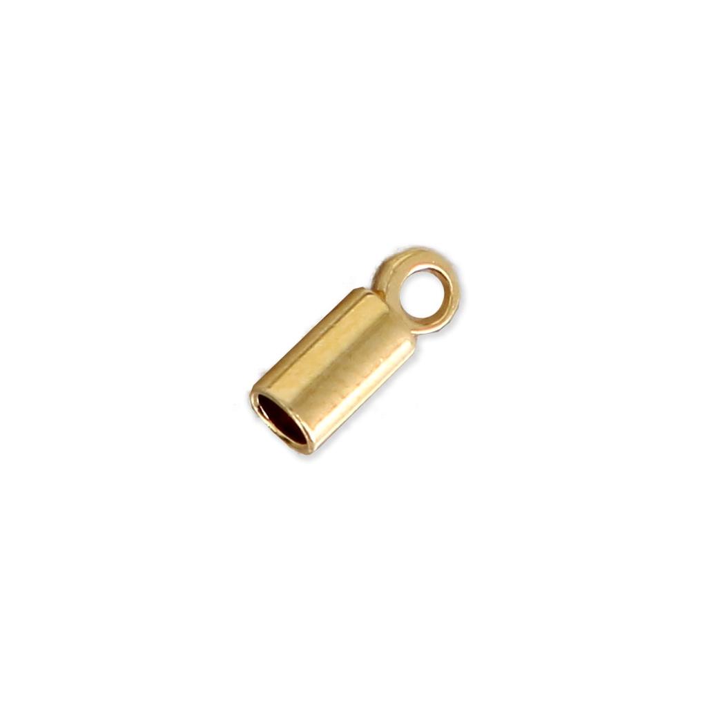 Terminales cilíndricos 8x3 mm para cordón 2 mm dorado x10 - Perles   Co 14f7657676f5